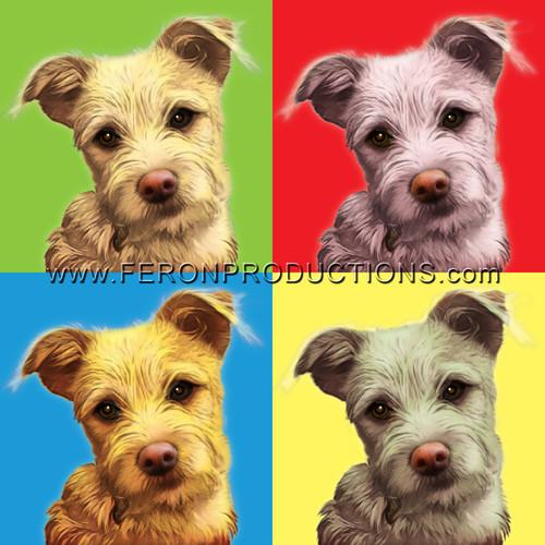 Turn Your Pet's Photo Into Pop Art!   4 images