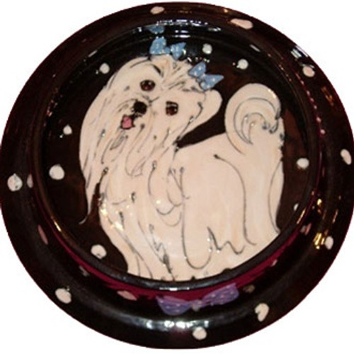 Maltese Dog Bowl