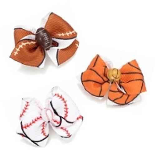 Hair Bow Trio: Sports