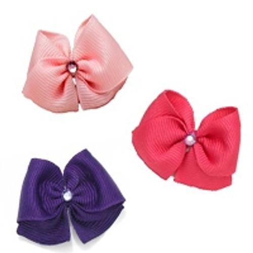 Hair Bow Trio: Grape