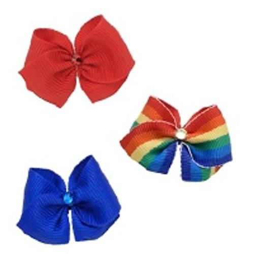 Hair Bow Trio: Pride