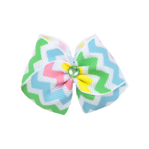 Chevron Dog Hair Bow