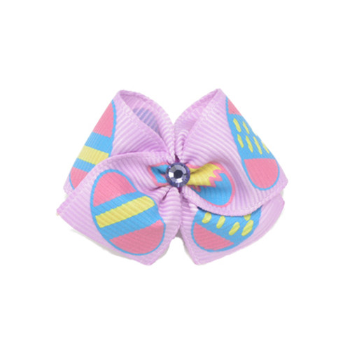 Easter Egg Dog Hair Bow | Lavender