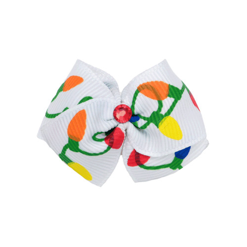 Xmas Lights Dog Hair Bow