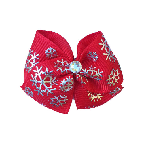 Christmas in New York Dog Hair Bow