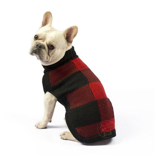 Buffalo Plaid Turtleneck Sweater