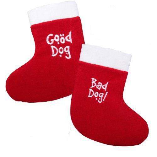 Good Dog/Bad Dog Reversible Dog Christmas Stocking
