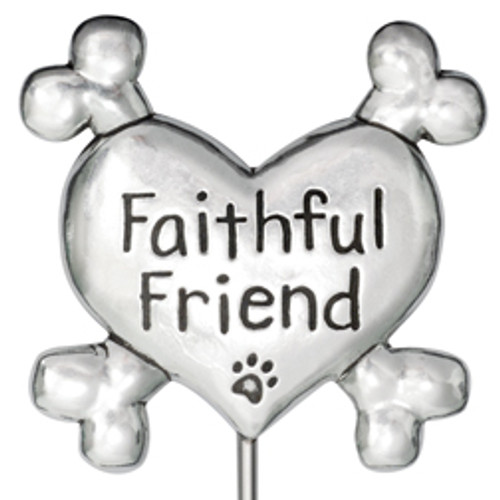 Faithful Friend Pet Memorial Garden Stake