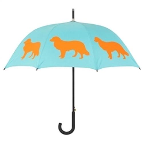 Border Collie Silhouette Umbrella