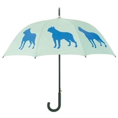 Boston Terrier Silhouette Umbrella