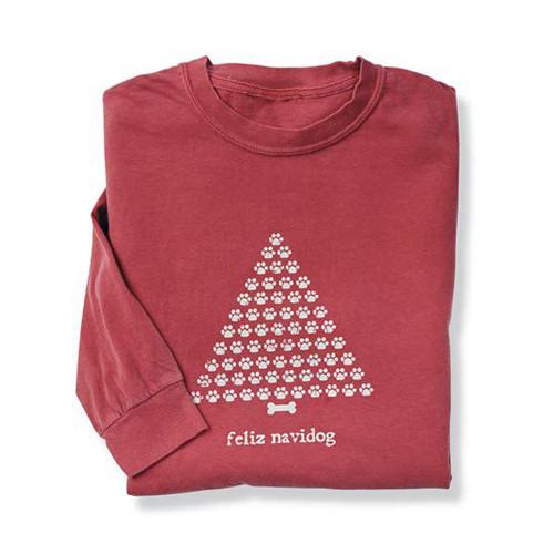 Feliz Navidog Human Long Sleeve T- Shirt