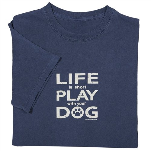 Life Is Short II T-shirt Blue