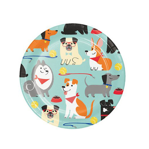 Puppy Party Cake Plates | 8ct