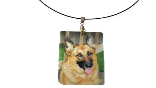 Custom Mother of Pearl Photo Necklace
