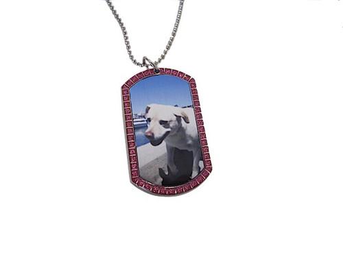Custom Glitter Dog Tag