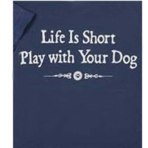 Life Is Short Classic Blue T-shirt