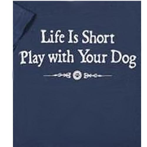 Life Is Short Classic Blue T-shirt