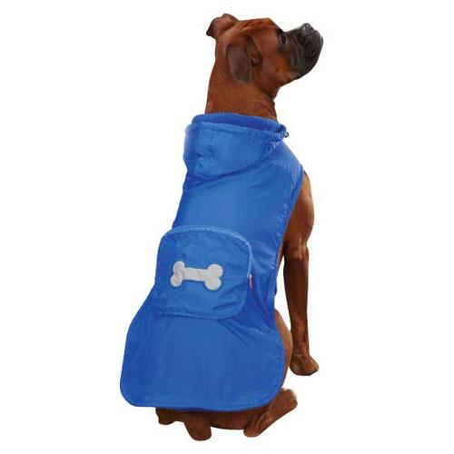 Fleece Lined Rain Jacket   Blue