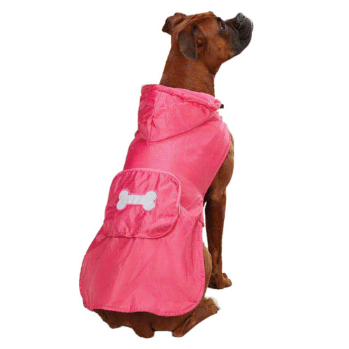 Fleece Lined Rain Jacket | Pink