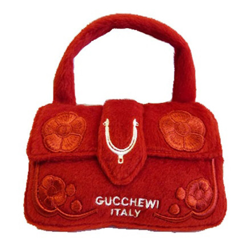 Purse Dog Toy | Gucchewi Red