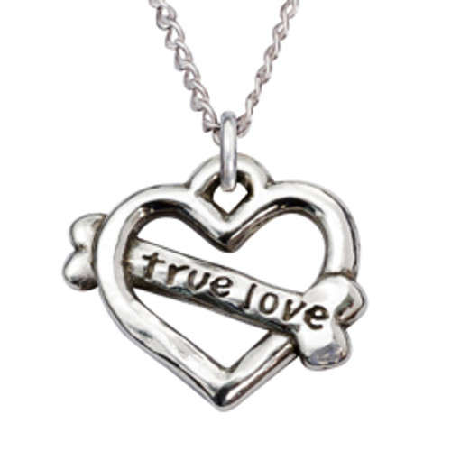 Sterling Silver Human Necklace | True Love Heart
