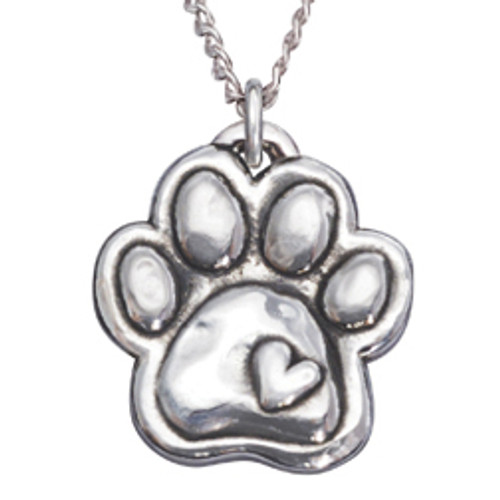 Sterling Silver Human Necklace | Paw & Heart