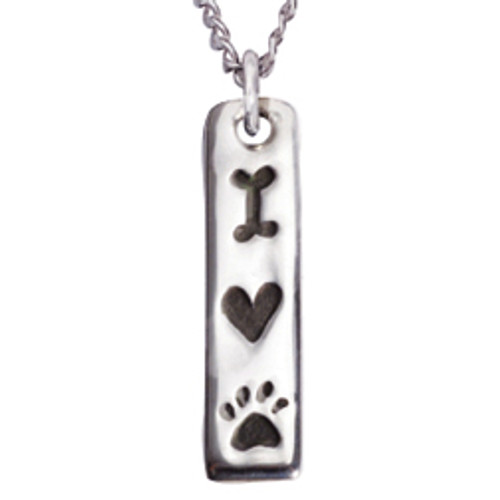 Sterling Silver Human Necklace | Love My Dog