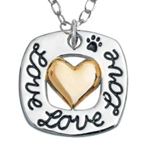 Dog Lover Human Necklace | Love Love Love