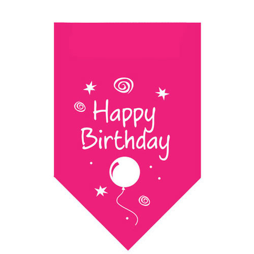 Bandana | Happy Birthday | Pink