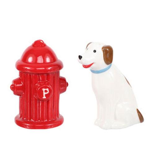 Dog & Hydrant Salt & Pepper Shakers
