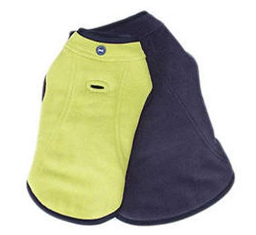 Reversible Fleece Dog Jacket | Lime & Navy