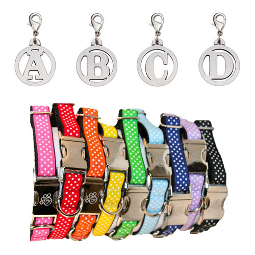 Rainbow Dots Collar & Initial Charm Collection