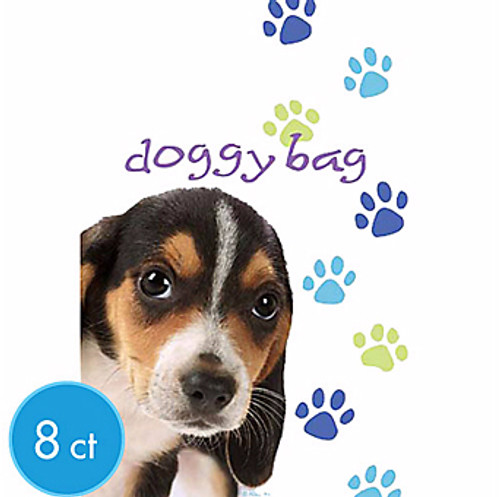 Party Pups Dog Birthday Party Favor Goodie Bags | 8ct