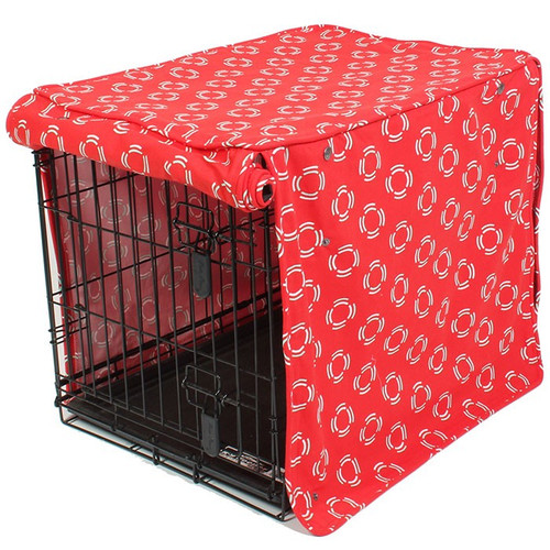 Lady in Red Dog Crate Cover | 4 Sizes