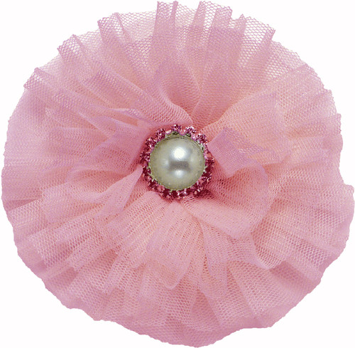 Tulle & Pearl Collar Bud | Pink