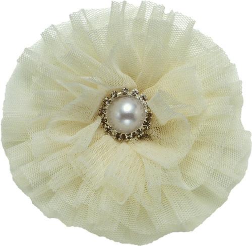 Tulle & Pearl Collar Bud | Ivory