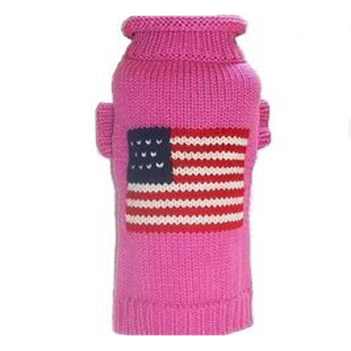 Patriotic Pup Dog Sweater | Pink