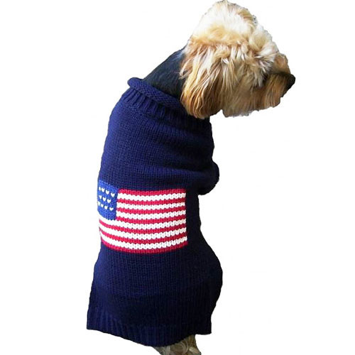Patriotic Pup Dog Sweater | Navy