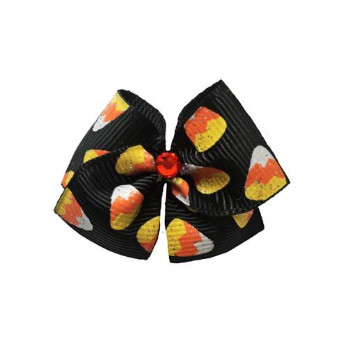 Candy Corn Glitter Hair Bow