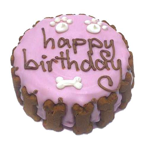 Organic Dog Birthday Cake | Pink