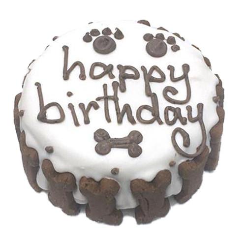 Organic Dog Birthday Cake | White