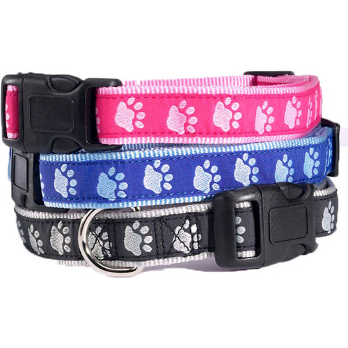 Two Tone Paw Print Collars