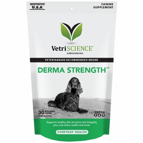 Derma Strength™ Skin & Coat Care for Dogs (30 Bite-Sized Chews)