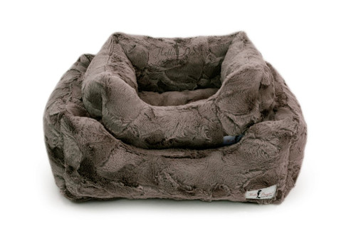 Lux Dog Bed | Pewter