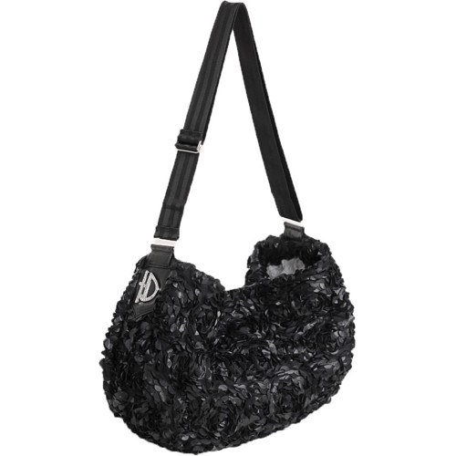 Victorian Messenger Sling Dog Carrier | Black