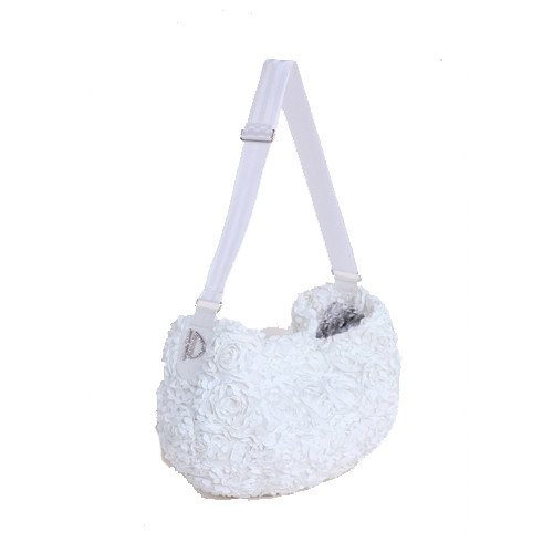Victorian Messenger Sling Dog Carrier | White