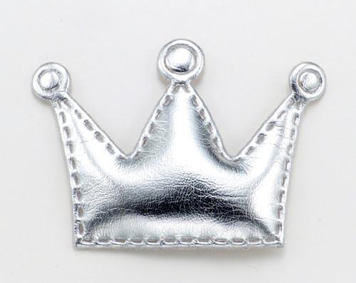 Silver Crown Dog Hair Bow