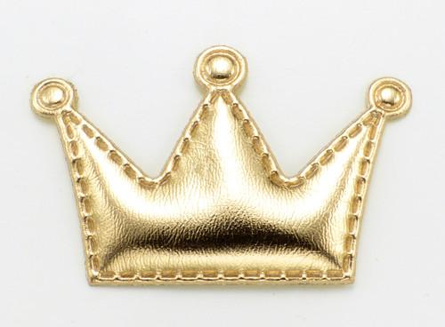 Gold Crown Dog Hair Bow