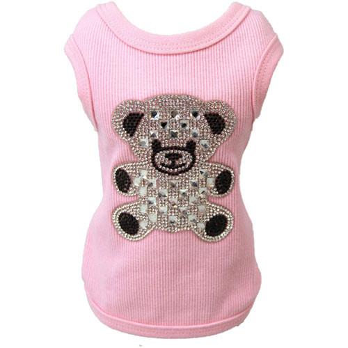 Tank Top | Teddy Bear | Pink Rhinestone