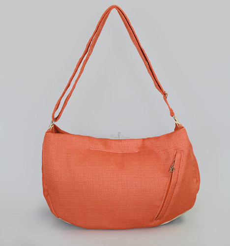 Vienna Luxury Messenger Sling | Tangerine